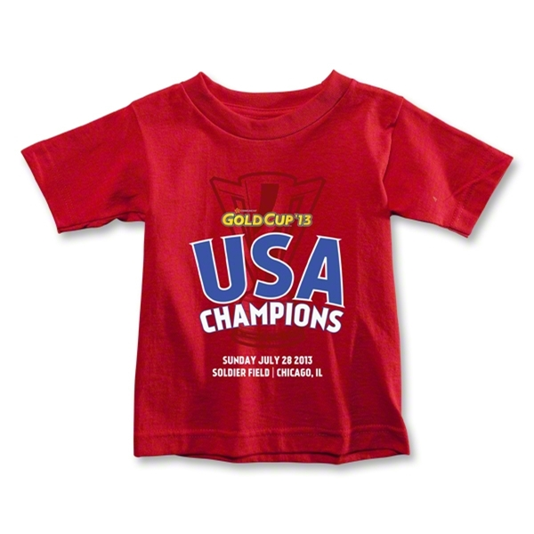 USA CONCACAF Gold Cup 2013 Champions Toddler T-Shirt (Red)