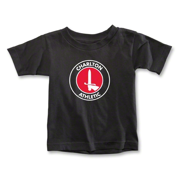 Charlton Athletic Crest Toddler T-Shirt (Black)