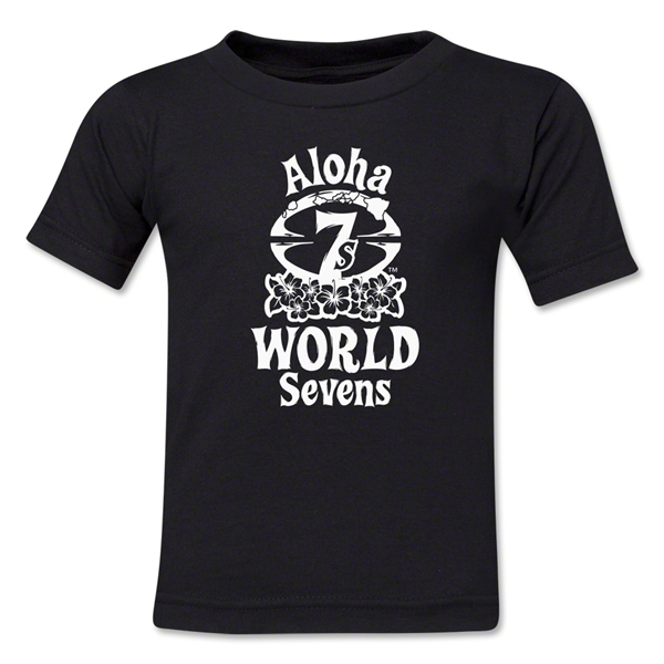 Aloha World Sevens Toddler T-Shirt (Black)
