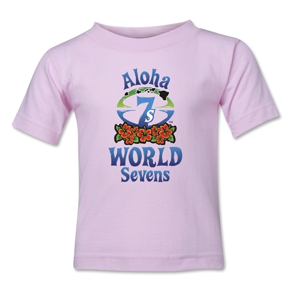 Aloha World Sevens Toddler T-Shirt (Pink)