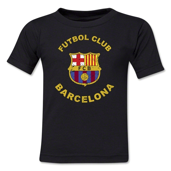 Barcelona Futbol Club Distressed Toddler T-Shirt (Black)