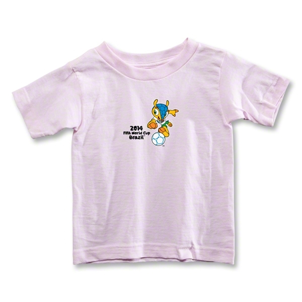 2014 FIFA World Cup Brazil(TM) Toddler Mascot T-Shirt (Pink)
