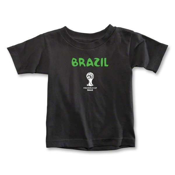 Brazil 2014 FIFA World Cup Brazil(TM) Toddler Core T-Shirt (Black)