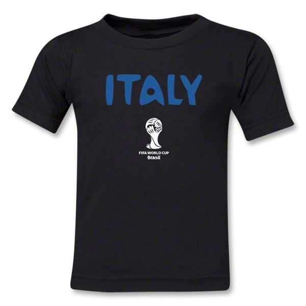 Italy 2014 FIFA World Cup Brazil(TM) Toddler Core T-Shirt (Black)