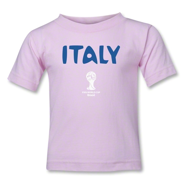 Italy 2014 FIFA World Cup Brazil(TM) Toddler Core T-Shirt (Pink)