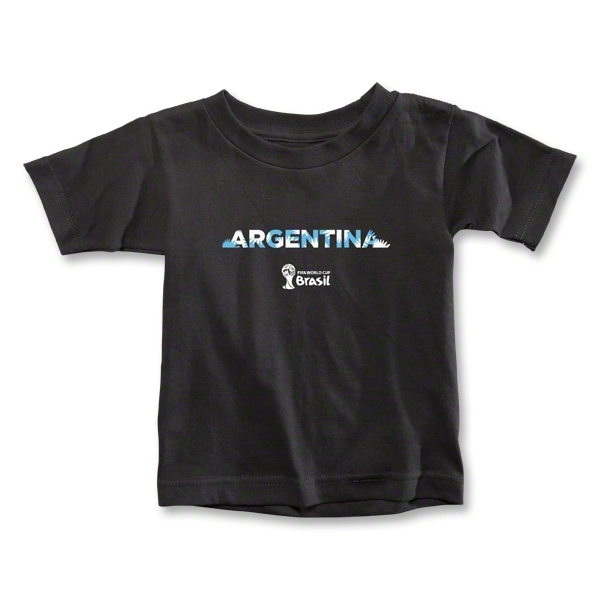 Argentina 2014 FIFA World Cup Brazil(TM) Toddler Palm T-Shirt (Black)