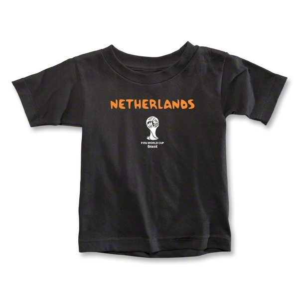 Netherlands 2014 FIFA World Cup Brazil(TM) Toddler Core T-Shirt (Black)
