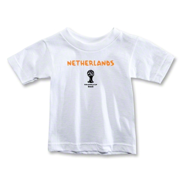 Netherlands 2014 FIFA World Cup Brazil(TM) Toddler Core T-Shirt (White)