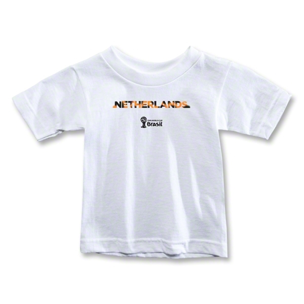 Netherlands 2014 FIFA World Cup Brazil(TM) Toddler Palm T-Shirt (White)