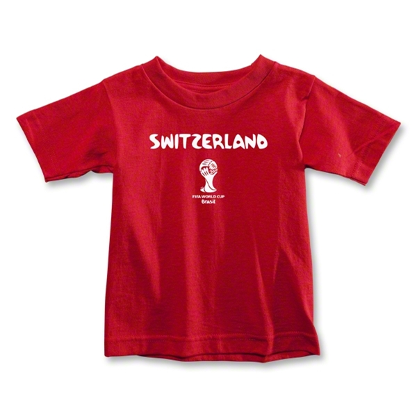 Switzerland 2014 FIFA World Cup Brazil(TM) Toddler Core T-Shirt (Red)