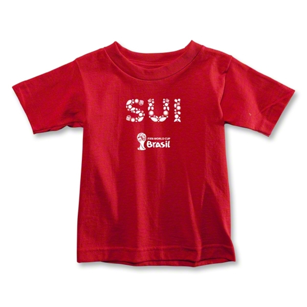 Switzerland 2014 FIFA World Cup Brazil(TM) Toddler Elements T-Shirt (Red)