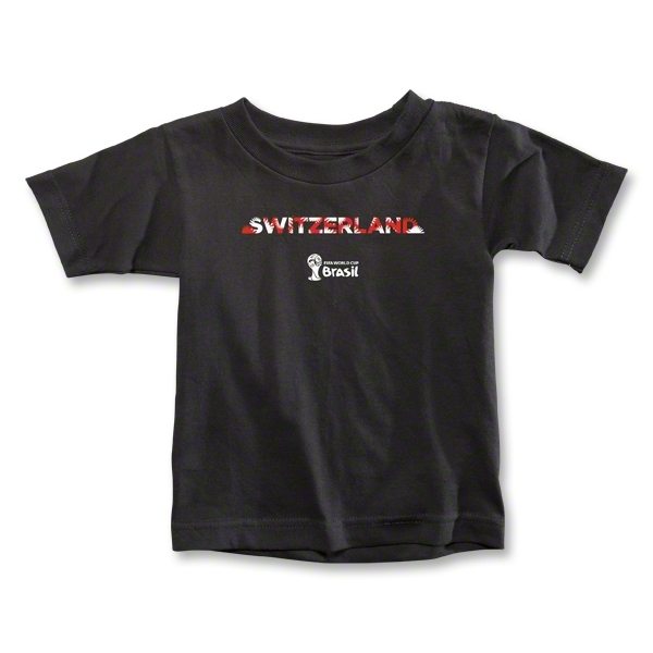 Switzerland 2014 FIFA World Cup Brazil(TM) Toddler Palm T-Shirt (Black)