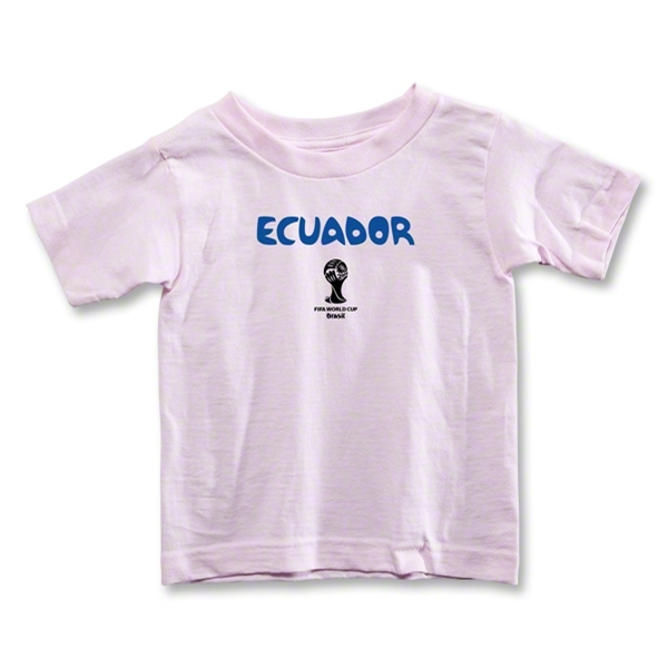 Ecuador 2014 FIFA World Cup Brazil(TM) Toddler Core T-Shirt (Pink)