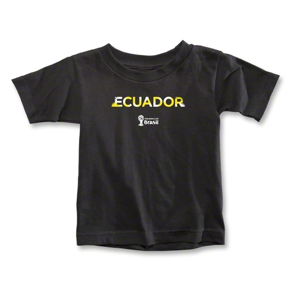 Ecuador 2014 FIFA World Cup Brazil(TM) Toddler Palm T-Shirt (Black)