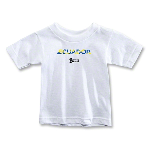 Ecuador 2014 FIFA World Cup Brazil(TM) Toddler Palm T-Shirt (White)
