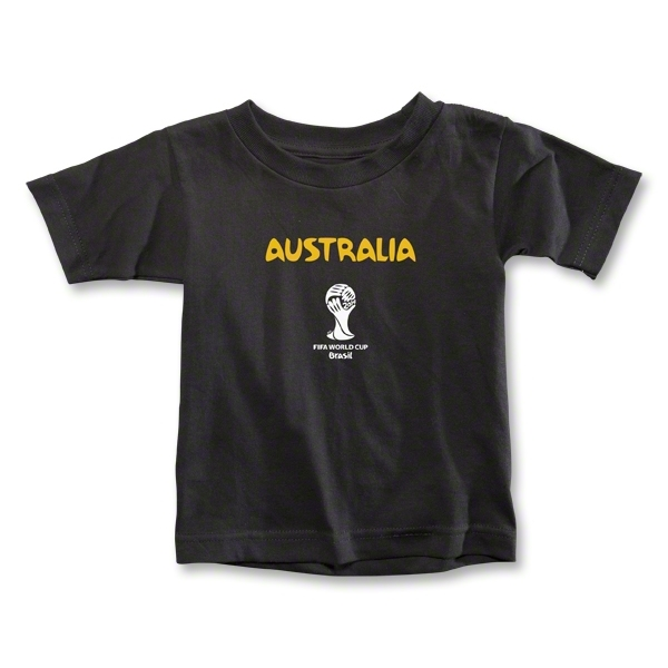 Australia 2014 FIFA World Cup Brazil(TM) Toddler Core T-Shirt (Black)