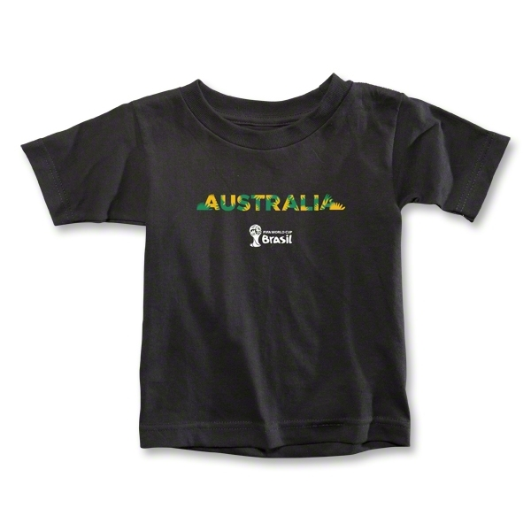 Australia 2014 FIFA World Cup Brazil(TM) Toddler Palm T-Shirt (Black)