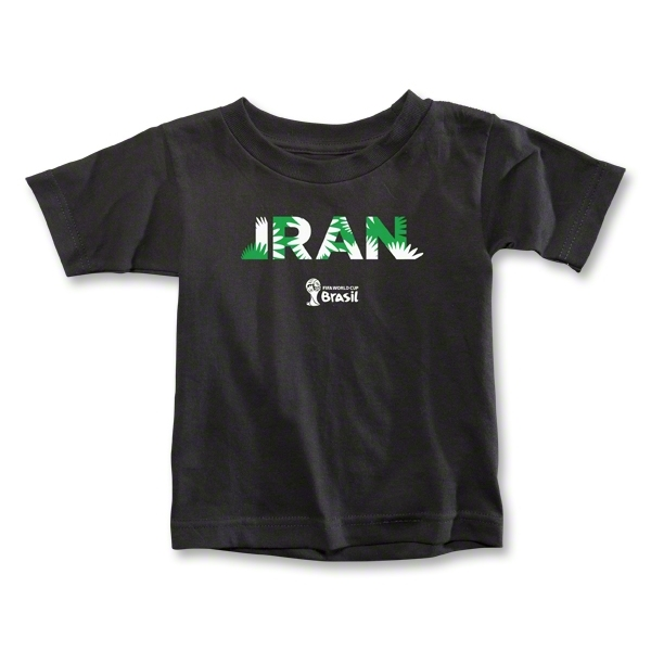Iran 2014 FIFA World Cup Brazil(TM) Toddler Palm T-Shirt (Black)