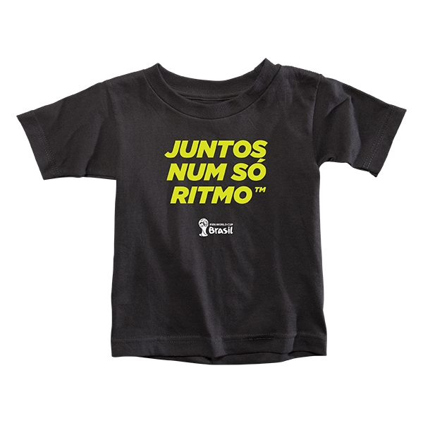 2014 FIFA World Cup Brazil(TM) Toddler Portugese All In One Rhythm T-Shirt (Black)