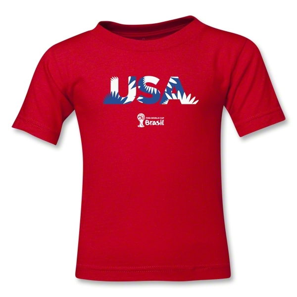 USA 2014 FIFA World Cup Brazil(TM) Toddler Palm T-Shirt (Red)