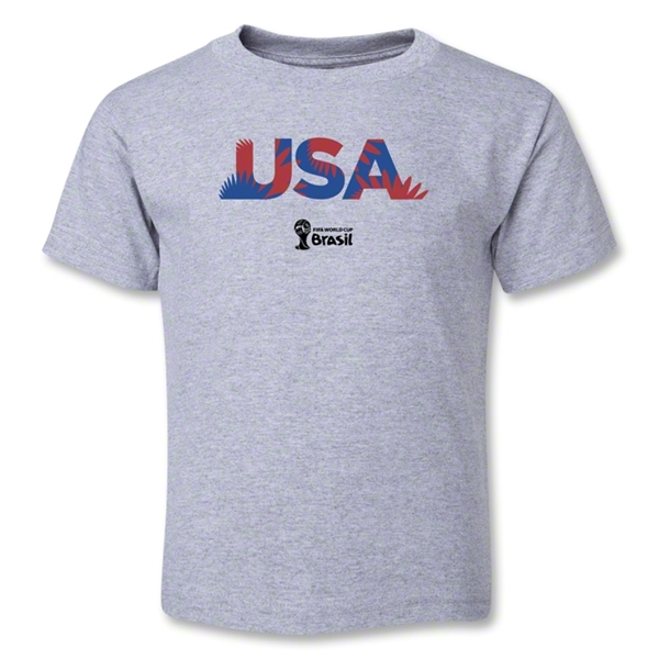 USA 2014 FIFA World Cup Brazil(TM) Toddler Palm T-Shirt (Grey)