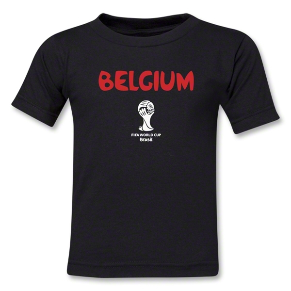 Belgium 2014 FIFA World Cup Brazil(TM) Toddler Core T-Shirt (Black)