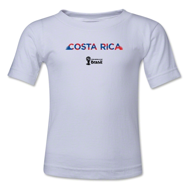 Costa Rica 2014 FIFA World Cup Brazil(TM) Toddler Palm T-Shirt (White)