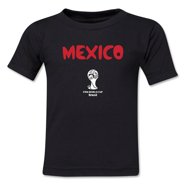 Mexico 2014 FIFA World Cup Brazil(TM) Toddler Core T-Shirt (Black)