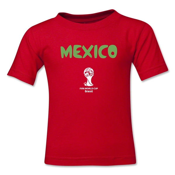 Mexico 2014 FIFA World Cup Brazil(TM) Toddler Core T-Shirt (Red)