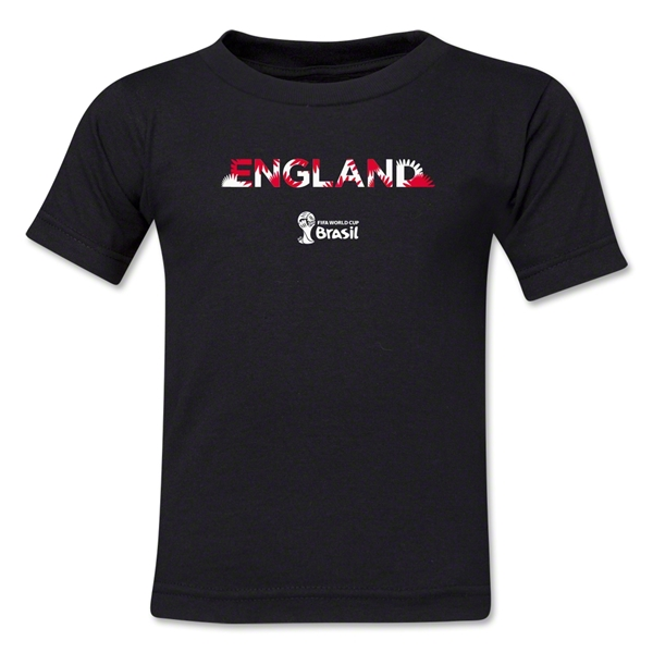 England 2014 FIFA World Cup Brazil(TM) Toddler Palm T-Shirt (Black)