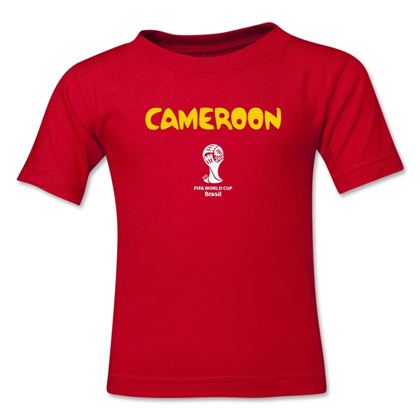 Cameroon 2014 FIFA World Cup Brazil(TM) Toddler Core T-Shirt (Red)