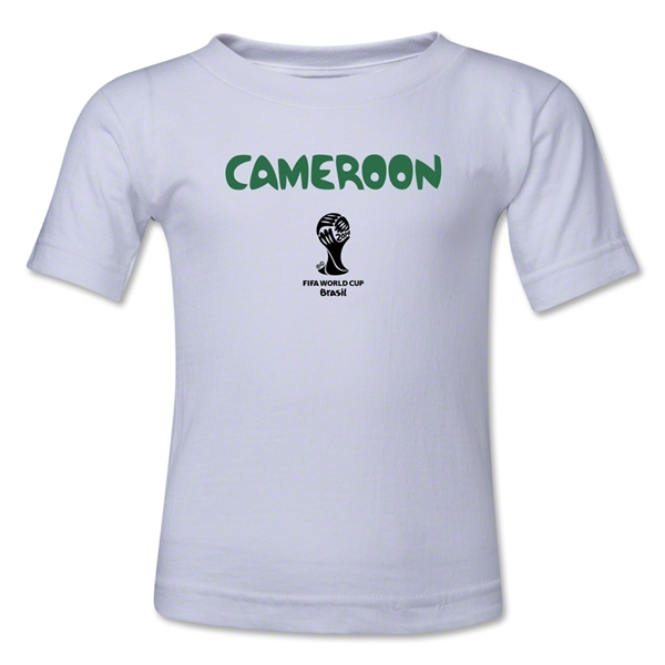 Cameroon 2014 FIFA World Cup Brazil(TM) Toddler Core T-Shirt (White)