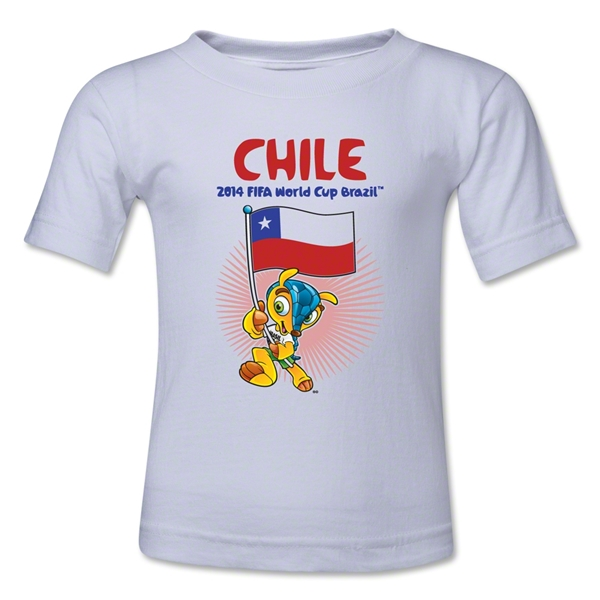 Chile 2014 FIFA World Cup Brazil(TM) Toddler Mascot Flag T-Shirt (White)