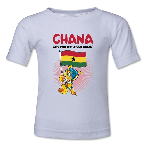 Ghana 2014 FIFA World Cup Brazil(TM) Toddler Mascot Flag T-Shirt (White)