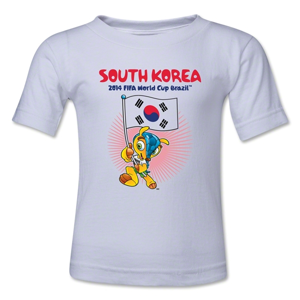 South Korea 2014 FIFA World Cup Brazil(TM) Toddler Mascot Flag T-Shirt (White)
