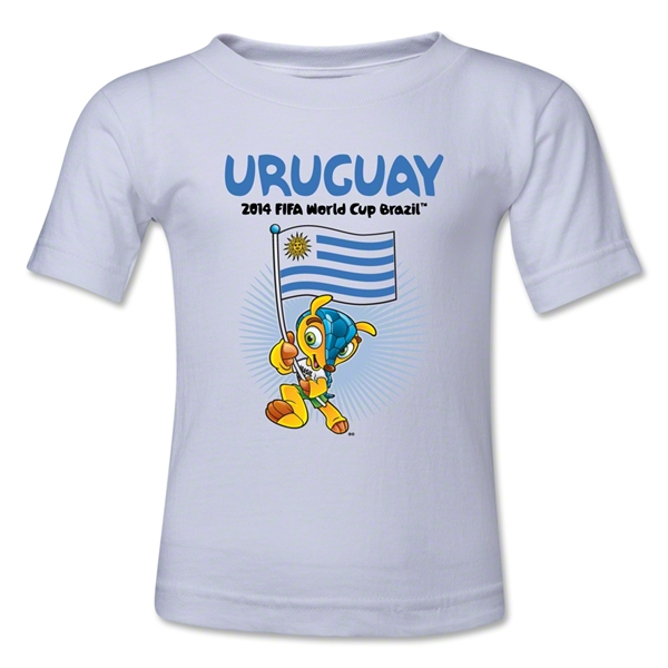 Uruguay 2014 FIFA World Cup Brazil(TM) Toddler Mascot Flag T-Shirt (White)