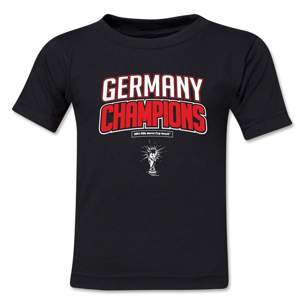 Germany 2014 FIFA World Cup Brazil(TM) Toddler Champions Logotype T-Shirt (Black)