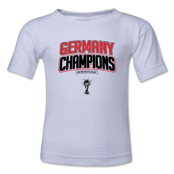 Germany 2014 FIFA World Cup Brazil(TM) Toddler Champions Logotype T-Shirt (White)