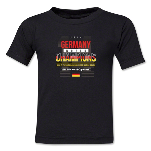 Germany 2014 FIFA World Cup Brazil(TM) Toddler Champions 14 T-Shirt (Black)
