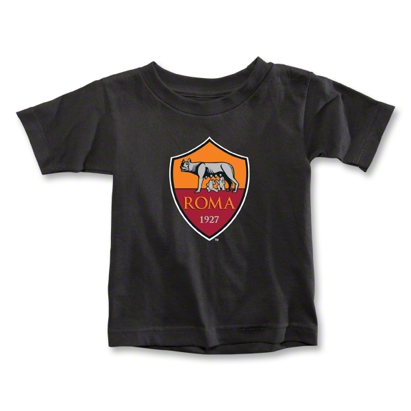AS Roma Crest Toddler T-Shirt (Black)