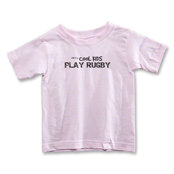Cool Kids Play Rugby Toddler T-Shirt (Pink)