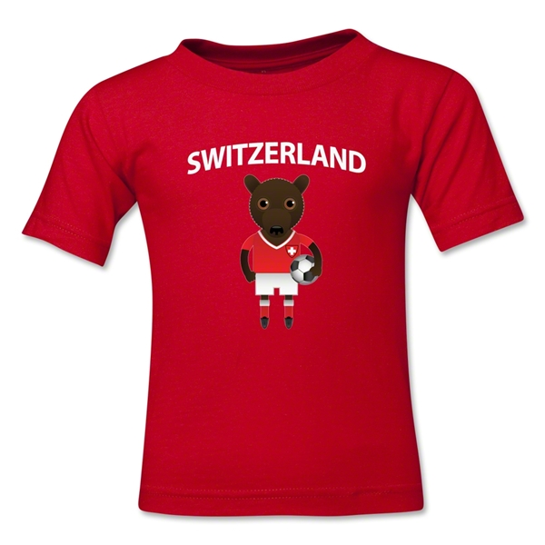 Switzerland Animal Mascot Toddler T-Shirt (Red)