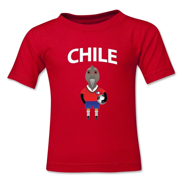 Chile Animal Mascot Toddler T-Shirt (Red)