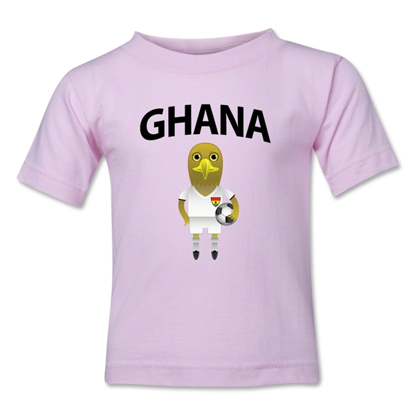 Ghana Animal Mascot Toddler T-Shirt (Pink)