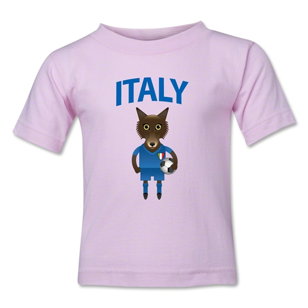 Italy Animal Mascot Toddler T-Shirt (Pink)