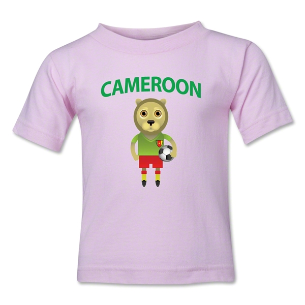 Cameroon Animal Mascot Toddler T-Shirt (Pink)