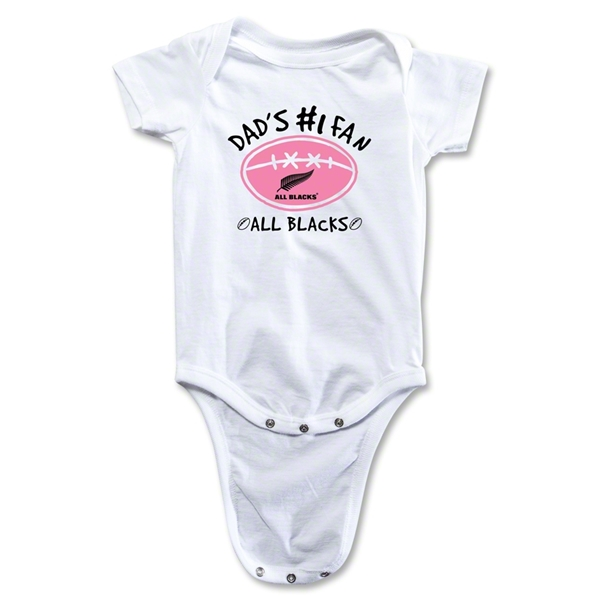 All Blacks Dad #1 Fan Baby Onesie (Girl)
