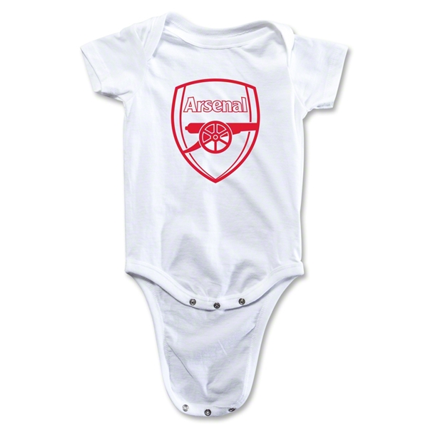 Arsenal Crest Onesie (White)