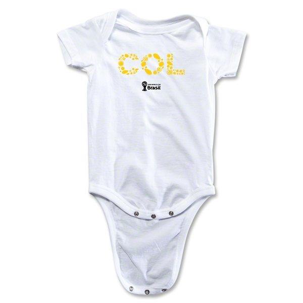 Colombia 2014 FIFA World Cup Brazil(TM) Elements Onesie (White)