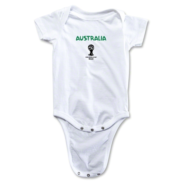 Australia 2014 FIFA World Cup Brazil(TM) Core Onesie (White)